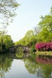 Liuxiu stone arch bridge Royalty Free Stock Photography