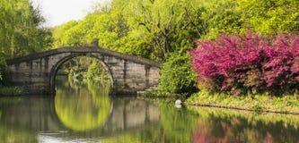 Liuxiu stone arch bridge Royalty Free Stock Photos