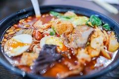 Liuzhou river snails rice noodle. Close up Stock Photo