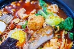 Liuzhou river snails rice noodle. Close up Stock Image