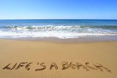 Liv är en strand Arkivfoton
