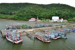 Liv av den thailändska fiskaren Royaltyfria Bilder
