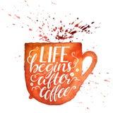 Liv börjar efter kaffe vektor illustrationer