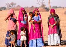 Liv för ökenby, Jaisalmer, Indien Royaltyfria Foton