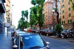 Liv för Rome stadsgata på Maj 31, 2014 Arkivbilder