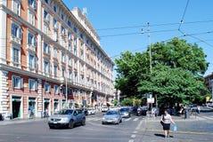 Liv för Rome stadsgata på Maj 30, 2014 Arkivbilder