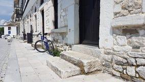 Liv i en grekisk by fotografering för bildbyråer