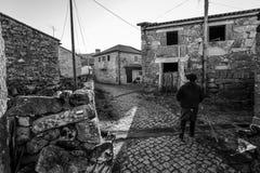 Liv i gamla Ermida - Portugal Arkivbild