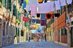 Liv i Venedig Italien arkivfoton