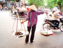 Liv på gatan av Ho Chi Minh City i Vietman Arkivfoton