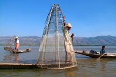 Liv på inlesjön, Myanmar. Royaltyfri Foto