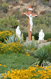 Liv - storleksanpassa Crucifixionstatyer Royaltyfri Foto
