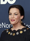 "Liv Tyler. Actress Liv Tyler arrives on the red carpet for the New York premiere of ""The Normal Heart, "" at the Ziegfeld Theatre in New York City on May 12 Royalty Free Stock Images"