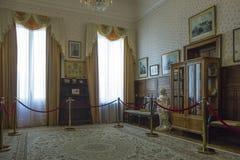 Livadia宫殿,克里米亚房间  免版税库存图片