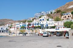 Livadia,蒂洛斯岛海岛 免版税库存图片