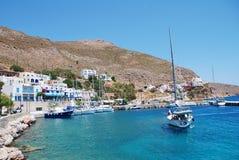 Livadia nadbrzeże na Tilos wyspie obraz royalty free