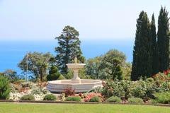 Livadia pałac park w Livadiya, Crimea Obraz Royalty Free