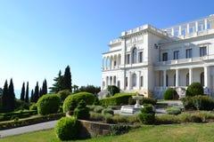 Livadia Palace Crimea, Ukraine. Built in 1911 by architect N.P. Krasnov. Livadia Palace Crimea, Ukraine (summer retreat of the last Russian tsar, Nicholas II stock photography