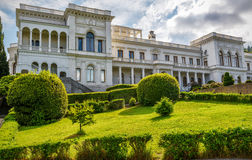 Livadia Palace in Crimea. YALTA, RUSSIA - MAY 17, 2016: Livadia Palace in Crimea. Livadia Palace was a summer retreat of the last Russian tsar, Nicholas II. The Royalty Free Stock Photo