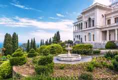 Livadia Palace in Crimea. YALTA, RUSSIA - MAY 17, 2016: Livadia Palace in Crimea. Livadia Palace was a summer retreat of the last Russian tsar, Nicholas II. The Stock Image