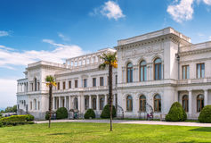 Livadia Palace in Crimea. YALTA, RUSSIA - MAY 17, 2016: Livadia Palace in Crimea. Livadia Palace was a summer retreat of the last Russian tsar, Nicholas II. The Stock Images