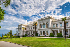 Livadia Palace in Crimea. Yalta, Russia - May 17, 2016: Livadia Palace in Crimea. Livadia Palace was a summer retreat of the last Russian tsar, Nicholas II. The Stock Photos