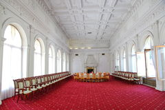 Livadia Palace. Meeting room in Livadiya, Crimea. Stock Photos