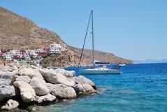 Livadia schronienie na Tilos wyspie zdjęcie stock