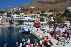 Livadia, Tilos island. The harbour at Livadia on the Greek island of Tilos Royalty Free Stock Images