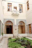 Livadiya的Livadia宫殿内部阿拉伯法院围场,克里米亚 免版税库存照片