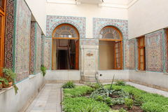 Livadiya的Livadia宫殿内部阿拉伯法院围场,克里米亚 免版税图库摄影