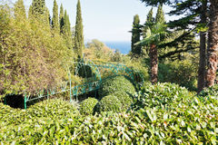 Livadiya garden on Southern Coast of Crimea Stock Photography