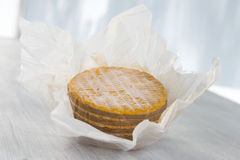 Livarot Cheese traditional Cheese from Normandy France Royalty Free Stock Image