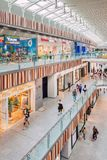 Livat Shopping Mall inteirior with shoppers, Beijing , China stock photo