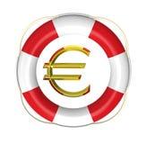 Livboj med eurotecknet royaltyfri illustrationer