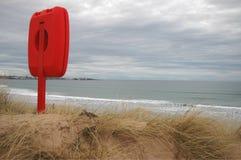 Livcirkel på den skotska stranden Royaltyfri Bild