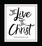 Live é Cristo ilustração royalty free