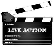 Live Action Clapperboard Imagen de archivo libre de regalías