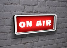 Live On Air Stock Photo