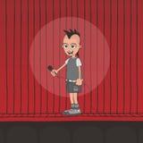 Live band boy cartoon character Royalty Free Stock Image