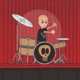 Live band boy cartoon character Stock Photography