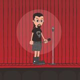 Live band boy cartoon character Royalty Free Stock Photo