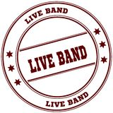 LIVE BAND simple red stamp Stock Images