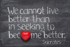 Live better Socrates stock photos