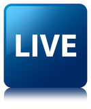 Live blue square button Royalty Free Stock Photo