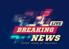 Live Breaking News Can be used as design for television news or Internet media. Vector Stock Image