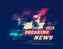 Live Breaking News Can be used as design for television news or Internet media. Vector Stock Images