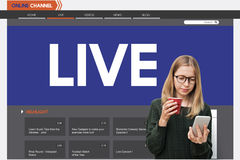 Live Broadcast Media News Online Concept Royalty Free Stock Photos