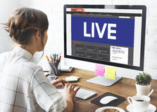 Live Broadcast Media News Online Concept Stock Photography