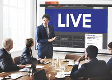 Live Broadcast Media News Online Concept Stock Photos